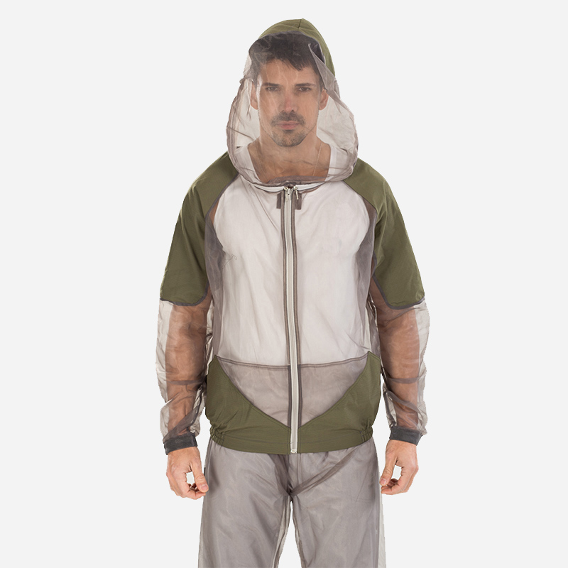 Outdoor Portable Bug Jacket Mosquito Net Hooded Suit