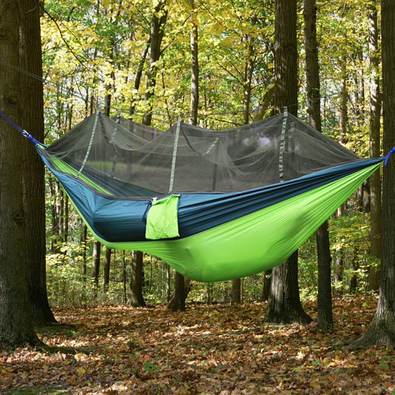 camping insect mesh mosquito net hammock parachute cloth double moski net