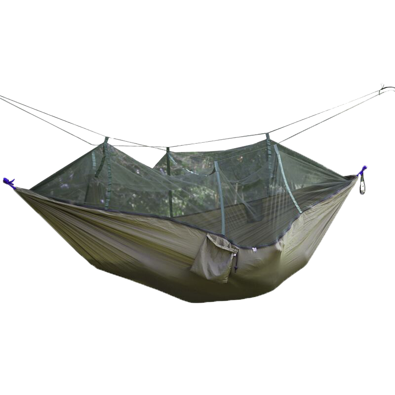 Mosquito net hammock parachute cloth double moski net for Net hammock bed