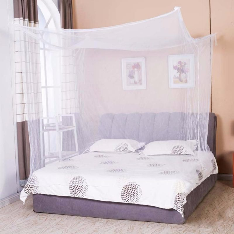 Rectangular Bed Netting Canopy Mosquito Net for Queen Bed & Rectangular Bed Netting Canopy Mosquito Net for King Size - Moski Net