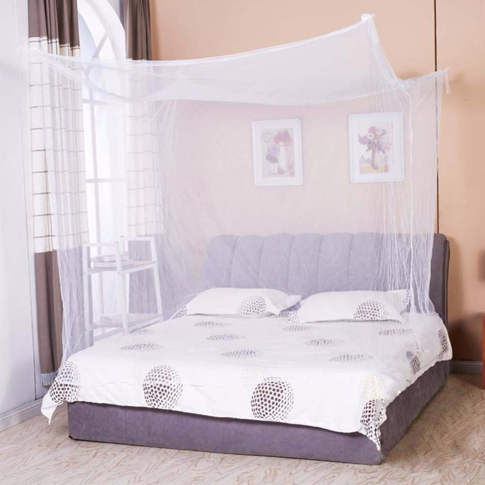 Rectangular bed netting canopy mosquito net for king size for Rectangle bed canopy