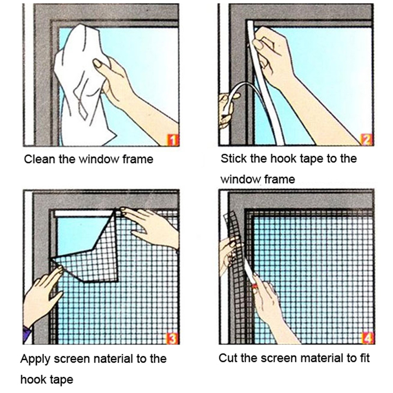 how to install magna mesh fly screen door