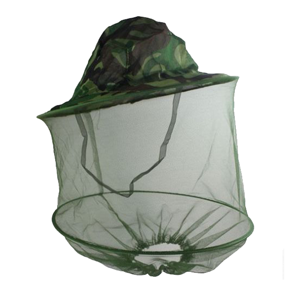 Camouflage Midge Net Hat With Metal Ring Moski Net