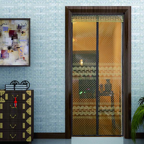 Mosquito Net Screen Door With Vintage Oriental Pattern & Mosquito Net Screen Door With Vintage Oriental Pattern - Moski Net